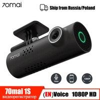 Голосовое управление 70mai Автомобильный видеорегистратор камера 1080P HD 70 Mai Dash Cam Автомобильная камера Wifi ночное видение 130 широкоугольный g-се...