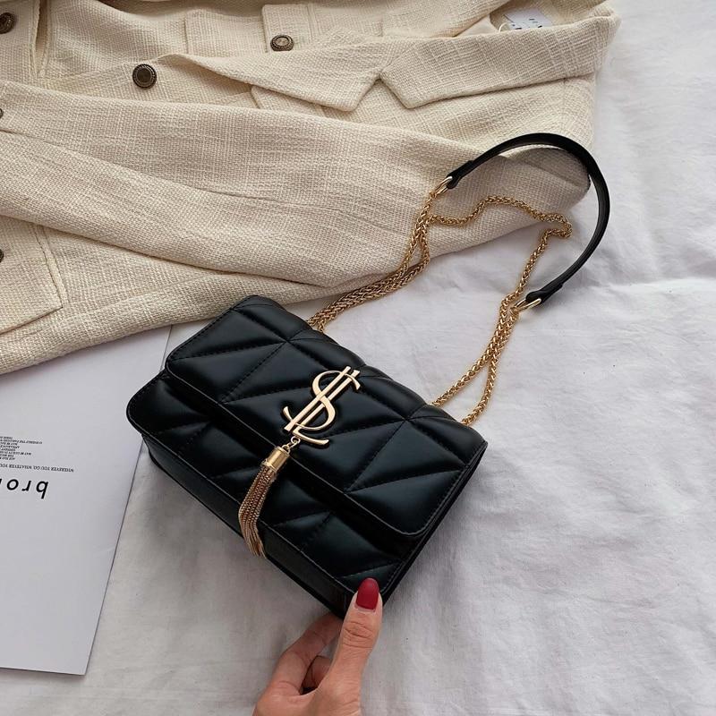 Роскошная брендовая сумка, новинка 2019, модная простая квадратная сумка из качественной искусственной кожи, женская дизайнерская сумка с за...