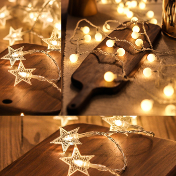 Indoor Outdoors Coloured LED Lamp Ball Lamp Star Lamp String Babysbreath Party Festival Transparent Lamp String Decorative Lamp