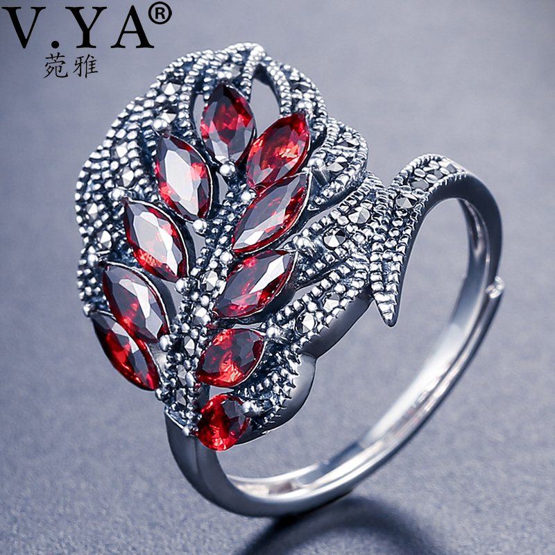 V.YA Authentic 925 Sterling Silver Rings Synthesis Clear CZ Open Feather Ring Wedding Fashion Jewelry|Rings|   - AliExpress