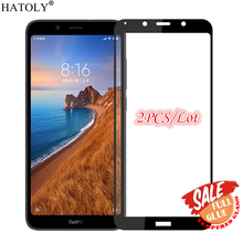 2PCS Full Glue Glass For Xiaomi Redmi 7A Tempered Screen Protector Coverage Phone Film