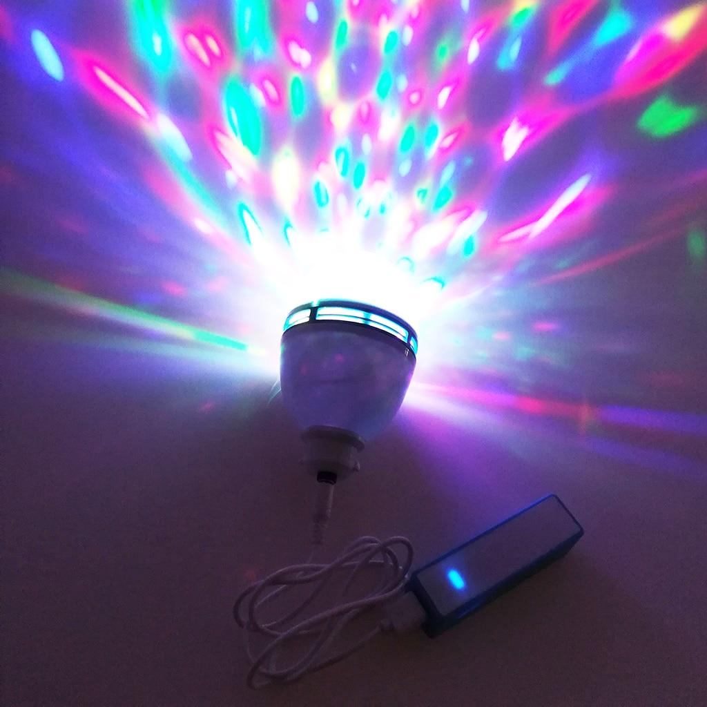 Image 5 - 5 в Usb портативный сценический эффект вечерние светильник s Авто вращающийся Светодиодный проекционный диско DJ открытый танцевальный светильник диско шар перезаряжаемый светильник-in Эффект освещения сцены from Лампы и освещение on