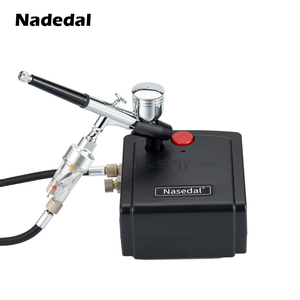 Image 5 - Nasedal NT 19 Dual Action Airbrush with Compressor 0.3mm  Spray Gun Airbrush Kit for Nail Airbrush for Model/Cake/Car Painting