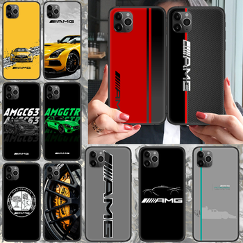 Mercedes Benz AMG Car Phone case For iphone 4 4s 5 5S SE 5C 6 6S 7 8 plus X XS XR 11 PRO MAX 2020 black waterproof fashion image