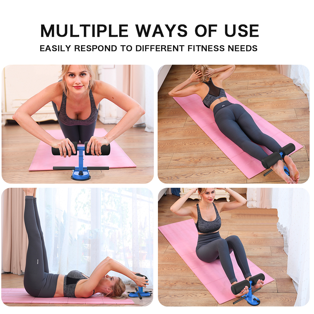 Купить с кэшбэком DMAR Adjustable Sit Up Bars Abdominal Core Workout Strength Training Sit up Assist Exercise Fitness Equipment Home Gym Yoga Mat
