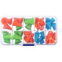 40 шт. разноцветные иглы точечные пробки иглы точечные протекторы иглы аксессуары для вязания с пластиковой коробкой для хранения, 2 S