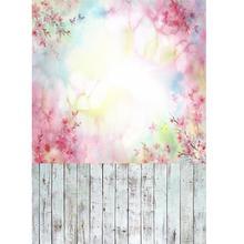 Flores coloridas pintura al óleo Bokeh foto telón de fondo de tela de vinilo para niños amantes del bebé accesorios de fotografía sesión de fotos