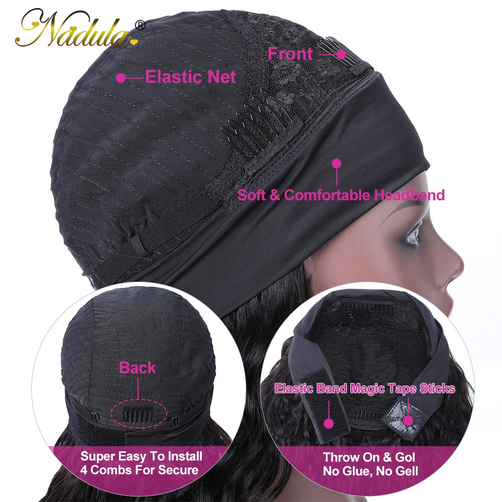 Body Wave Headband Wig No GLUE Headband Wig  for Black Women Nadula Hair Wigs Best and Easiest For Beginners 5