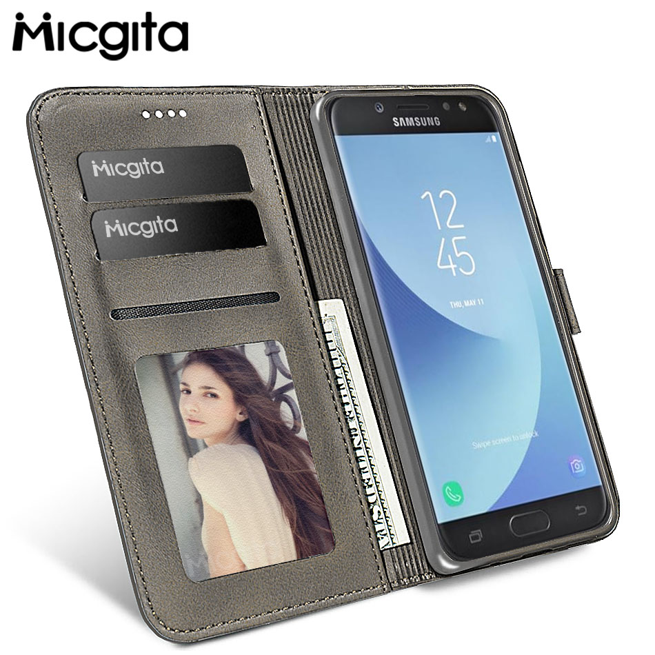 Micgita Business Leather <font><b>Case</b></font> For <font><b>Samsung</b></font> Galaxy J5 <font><b>2017</b></font> <font><b>J7</b></font> J3 <font><b>2017</b></font> <font><b>Flip</b></font> Wallet Cover <font><b>Case</b></font> For <font><b>Samsung</b></font> <font><b>J7</b></font> <font><b>2017</b></font> J730 Photo Frame image