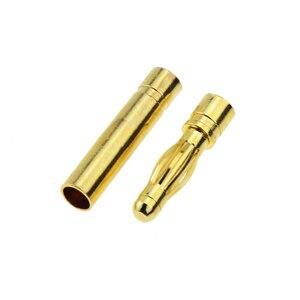 Image 4 - 10 คู่ 4mm GOLD Plated Bullet กล้วยปลั๊กคุณภาพสูงชายหญิง Bullet กล้วยชุดปลั๊กแบตเตอรี่
