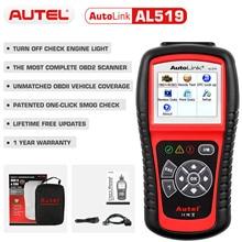 Autel 원래 OBD2 자동차 진단 도구 자동차 스캐너 AL519 OBD 2 EOBD 오류 코드 리더 스캔 도구 Escaner Automotriz