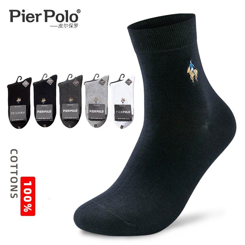 2019 pilpolo, мужские носки, повседневные, бизнес, хлопковые носки, вышитые, высокое качество, Мужская одежда, четыре сезона, подарочные носки, 5