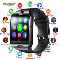 Reloj inteligente con cámara Q18 Bluetooth reloj inteligente SIM TF ranura para tarjeta Fitness actividad rastreador reloj deportivo para Android Samsung