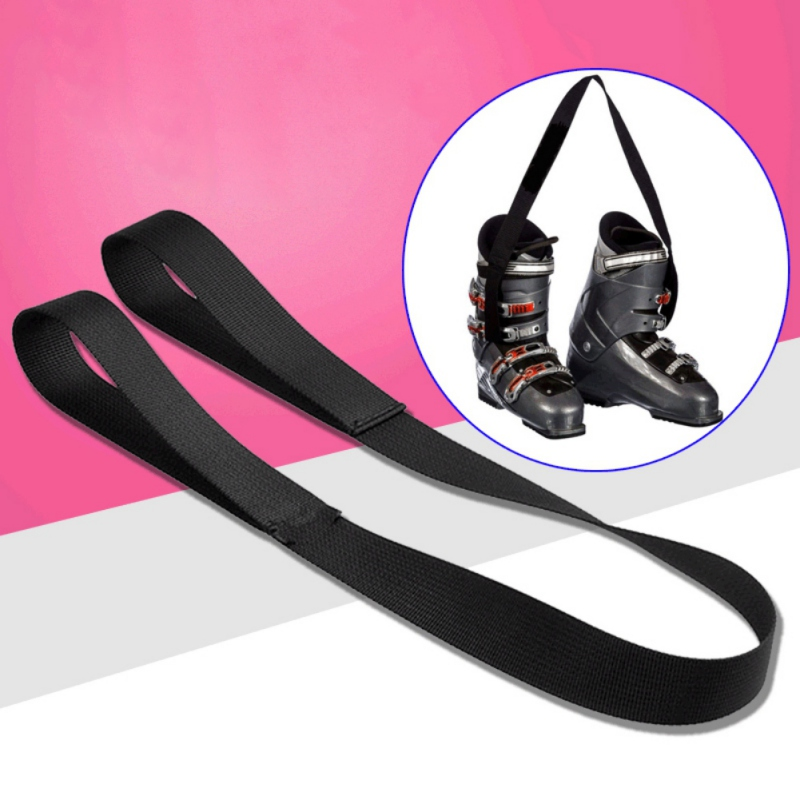 Black Ski Boots Carrier Strap Snowboard Boot Shoulder Sling Leash Carrying Belt For Ice Skates Rollerblades Skiing Accessories