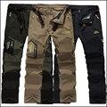 Мужские быстросохнущие брюки-карго, повседневные спортивные штаны для активного отдыха, походов и альпинизма, для весны и лета