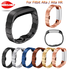 Stainless steel strap For Fitbit Alta Frontier/classic smartwatch wristband For Fitbit Alta HR new fashion replacement watchband cool denim chain strap for fitbit alta smart watch frontier classic bracelet for fitbit alta hr trend wristband accessories
