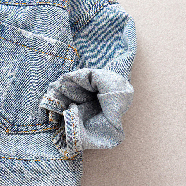 Denim Jacket Children Kids Fashion Cowboy Coat Leisure Clothes For Boys Girls Autumn Winter Outerwear Baby Casual Jean Coats 5