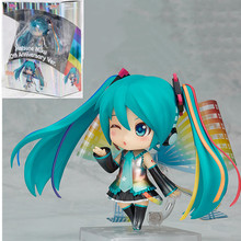 10cm anime figure Hatsune miku 10th Anniversary Ver. PVC Action Figure Collectible Model toys for children super sonico racing girl ver sexy anime figure maxfactory mf pvc action figure collectible model toys super orbital girls band