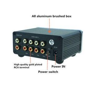 Image 2 - 4 (1) en 1 (4) sortie 4 voies entrée audio RCA signal câble séparateur sélecteur commutateur schalter Source connecteur distributeur boîte