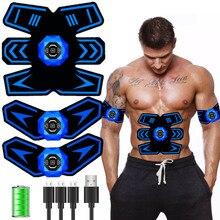 Беспроводной электрический стимулятор мышц из АБС пластика, тренажер для мышц, миостимулятор тела, массажер для похудения