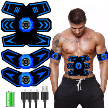 Wireless Electric abs Muscle Stimulator Muslce EMS Trainer Myostimulator Body Fitness Weight Loss Body Slimming Massager