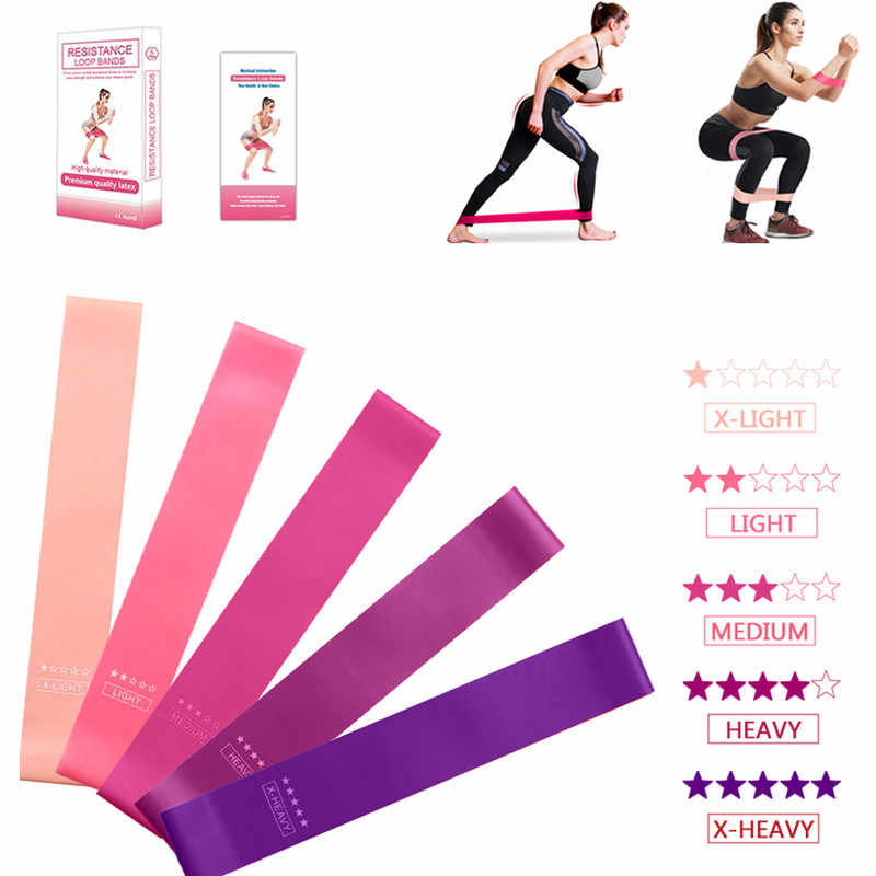 5Pcs Training Fitness Gom Oefening Gym Sterkte Weerstand Bands Pilates Sport Rubber Fitness Bands Crossfit Workout Apparatuur