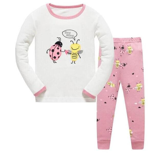 Pants Outfit Children Nightwear Clothes 2PCS Baby Halloween Pajamas Sleepwear Set Long Sleeve T-Shirt Tops