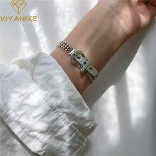 XIYANIKE-pulsera de cuentas redondas multicapa para mujer, hebilla de cinturón de Plata de Ley 925, pulsera de joyería personalizada