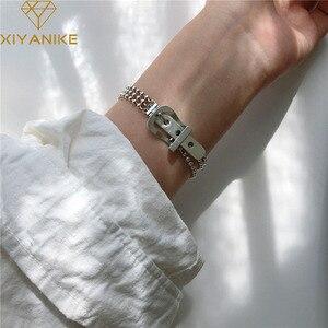 XIYANIKE 925 Sterling Silver Belt Buckle Multi-layer Round Bead Bracelet For Women Custom Fashion Jewelry Bracelet