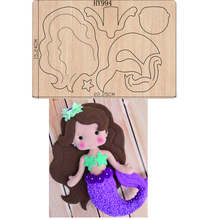 Mermaid  New Cartoon cutting dies 2019 new die cut &wooden dies Suitable  for common die cutting  machines on the market