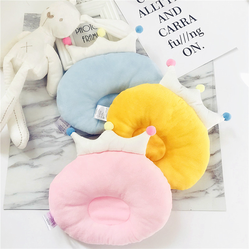 Cute Crown Baby Nursing Pillow Infant Newborn Sleep Support Concave Cartoon Pillow Printed Shaping Cushion Prevent Flat Head