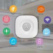 Pir sensor de movimento sem fio detector infravermelho segurança assaltante alarme sensor tuya controle app compatível