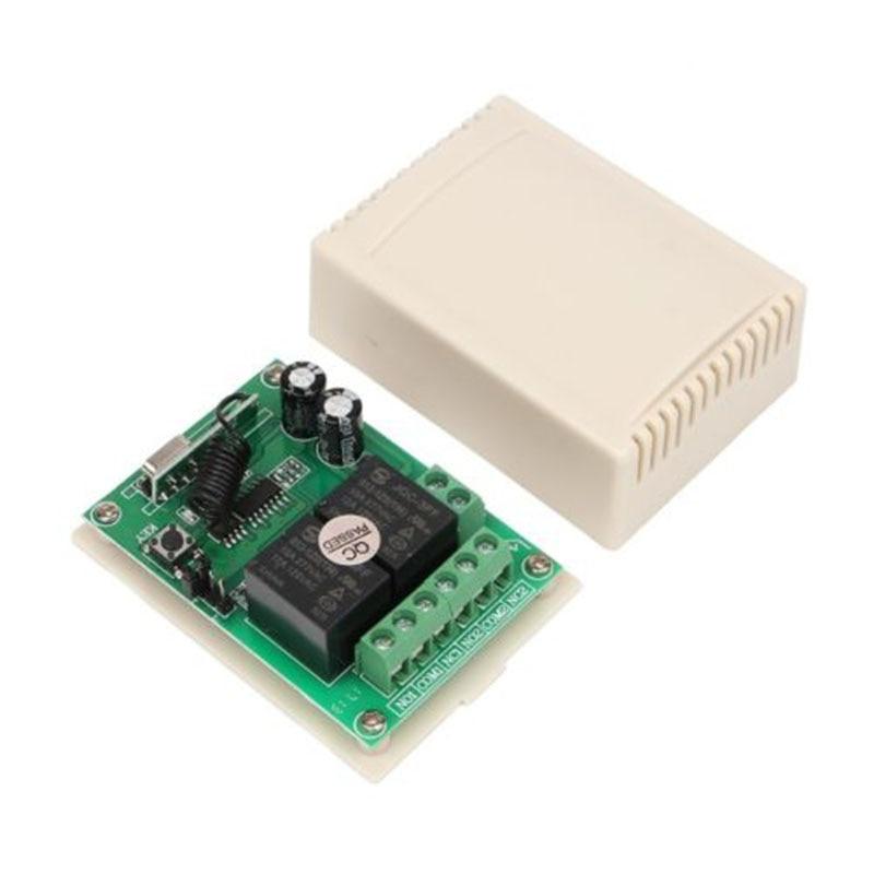 DC12V 2CH Wireless Remote Control Switch Receiver 5 Transmitters For Garage Door Home Garden Supplies