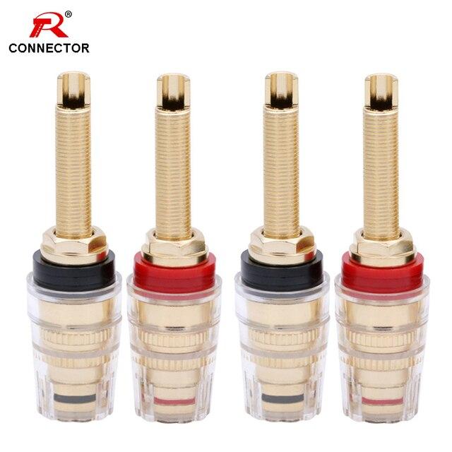 Connecteur de bornes HIFI, 4 paires de postes de liaison en laiton, poste de liaison de 19MM, amplificateur de haut parleur HIFI, prise Audio assortie à une prise banane de 4mm