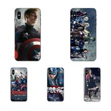 TPU ekran koruyucu için Apple iPhone 4 4S 5 5S SE 6 6S 7 8 11 artı X XS Max XR Pro Max 2019 Avengers 2 yaş Ultron film(China)