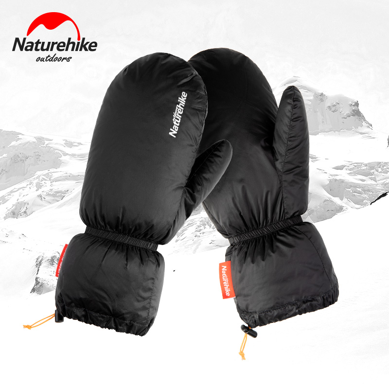 Naturehike Ski Down Gloves Unisex 50g Ultralight Snow Gloves Winter Warm Goose Down Waterproof Gloves Skiing Warm Supplies