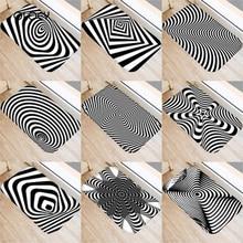 40*60 センチメートル視覚誤差幾何非スリップスエードカーペットドアマットキッチンリビングルームのフロアマットホームベッドルーム装飾フロアマット。