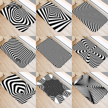 40 * 60cm Visual Error Geometric Non slip Suede Carpet Door Mat Kitchen Living Room Floor Mat Home Bedroom Decorative Floor Mat.