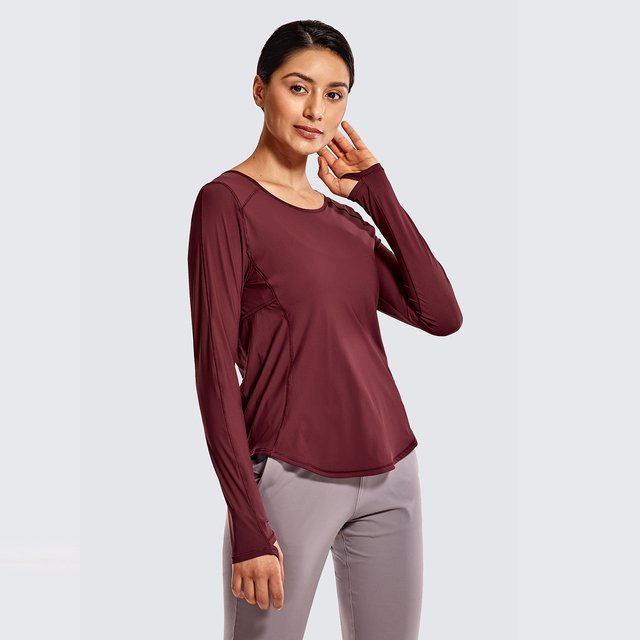 Light and Stretch Sports Shirt Long Sleeve Mesh Back