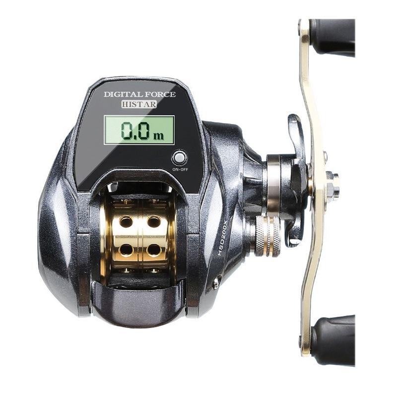2020 New Low Profile Line Counter Digital Display Baitcasting Reel 7.0:1 High Speed Ratio Electronic Fishing Reel