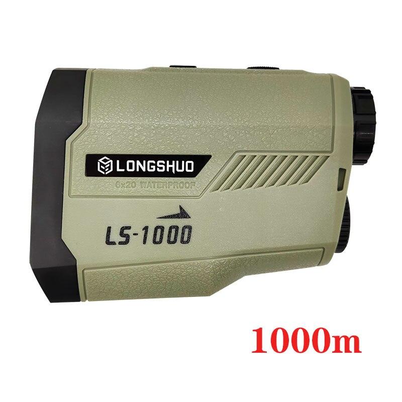 longshuo Golf laser rangefinder 1000m Slope Flag-Lock slope pin Laser Rangefinder for Hunting Laser Distance meter 1