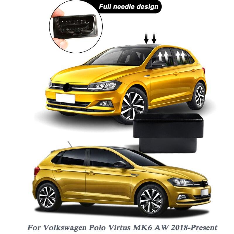 Автомобильный Стайлинг Мощность Окно Roll up Ближе Для Защитные чехлы для сидений, сшитые специально для Volkswagen Polo Virtus MK6 AW 2018 2020 Автоматическая