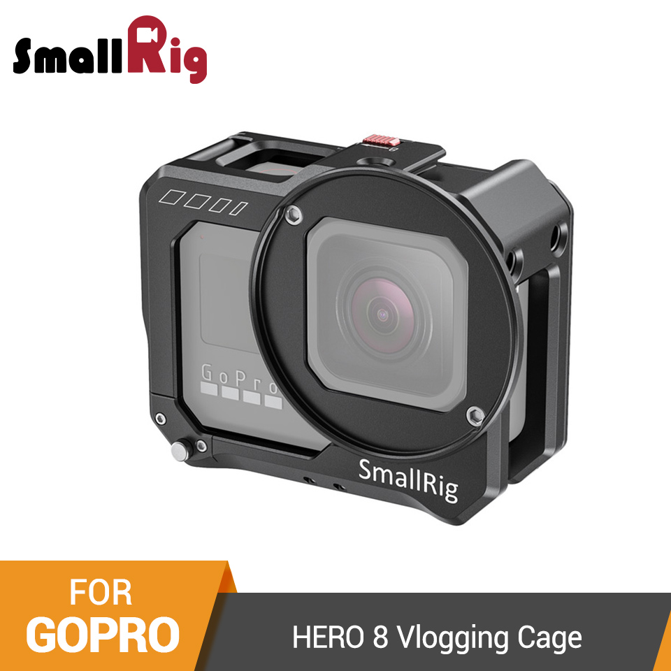 SmallRig Vlogging Cage With 52mm Filter Adapter For GoPro HERO 8 Black Aluminum Alloy Camera Cage Video Shooting Rig - 2505