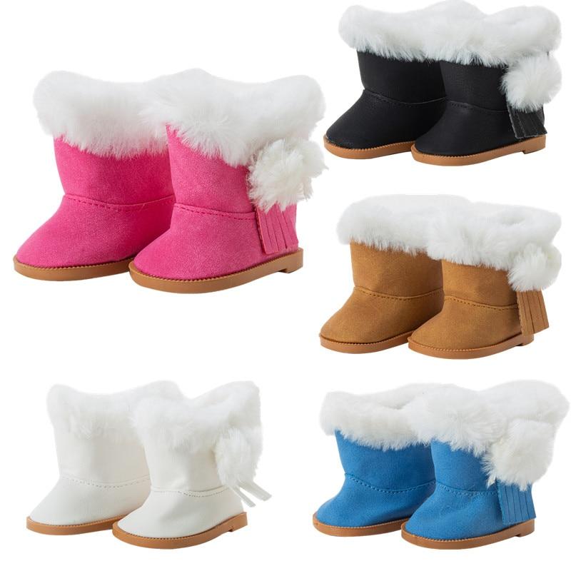 Nova boneca sapatos botas boneca acessórios para 18-Polegada boneca americana presentes de natal