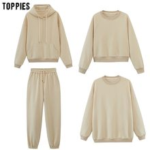 toppies Womens Tracksuits Hooded Sweatshirts 2020 Autumn Winter Fleece Oversize Hoodies Solid Pullovers Jackets Unisex Couple
