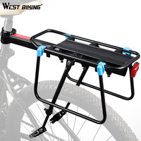 WEST BIKING 50kg Capacity Bike Racks Cycling Carrier Luggage Cargo Rear Shelf Aluminum Alloy MTB Bike Bags Holder Bicycle Rack