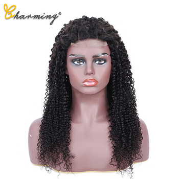 CHARMING Brazilian Bob Kinky Curly Human Hair Lace Wigs 4*4 Lace Closure Human Hair Wigs For Black Women With Remy Hair