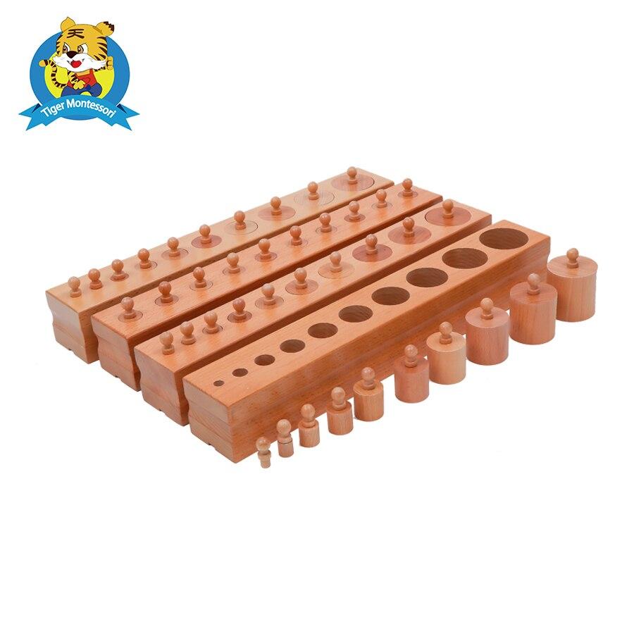 Bloque de cilindros de material montessori (Juego de 4) de juguete - 2