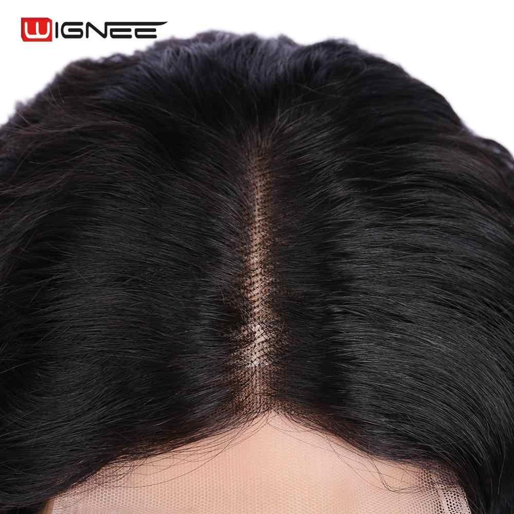Wignee 4x4 תחרה סגירת Loose עמוק שיער טבעי פאות עבור נשים טבעי שחור שיער 150% צפיפות Glueless תחרה פרונטאלית אדם פאות