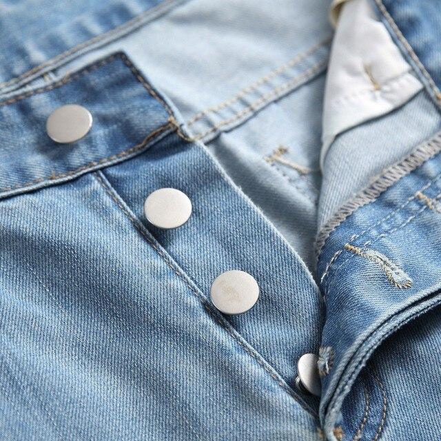 Men's Casual Jeans Men's Casual Denim Straight Jeans Multi-button Trousers Men's Ripped Fashion Jeans Jeans Para Hombre 2
